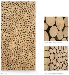 wood ring wall panel..i can make it! order by zoozy89@hotmail.com