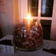 Bouchon de vin pour la table de l'urne