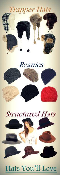 I <3 hats!!! winter hats :) #winter #fashion #style