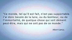 Albert Camus De l'amour pour vivre