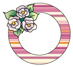 Round patterned frames with three roses. Loving Can Hurt Sometimes, Round Border, Three Roses, Paper Fish, Scrapbook Frames, Fish Quilt, Borders And Frames, Bullet Journal, Paper Crafts