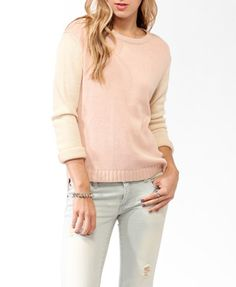 Colorblocked Metallic-Blend Sweater | FOREVER21 - 2025100896