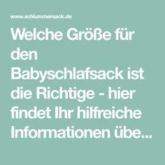 Welche Größe für den Babyschlafsack ist die Richtige - hier findet Ihr hilfreiche Informationen über die ideale Größe für jedes Alter Baby Boom, Alter, Projects, Running Away, Kids Discipline, Baby Knitting, Pregnancy, Toddlers