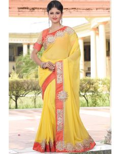 Elegant Yellow #Saree