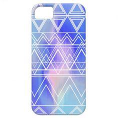 Blue Multi Tribal iPhone 5 Case