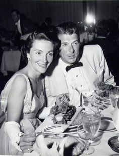 old hollywood before the White House...Ronald and Nancy Reagan