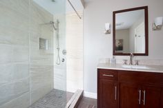 Large walk-in shower in Toronto