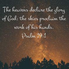 God's creation sings His praise everyday.