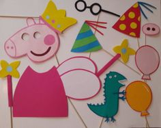 Peppa Pig Photo Booth Props Instant by ThePartyFactoryWorld