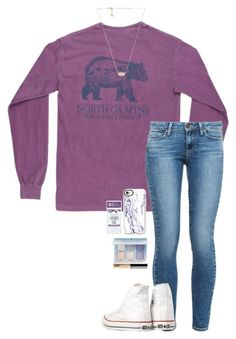 north ga mt by gabyleoni on Polyvore featuring polyvore, fashion, style, Paige Denim, Converse, Kendra Scott, Casetify, Bare Escentuals, Schmidt's, Anastasia Beverly Hills and clothing