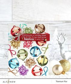 Bells and Bows Stamp Set - Altenew  - 1