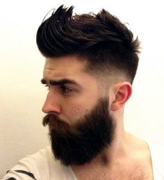 #ChrisJohnMillington with messy spikes, a full beard and #undercut.