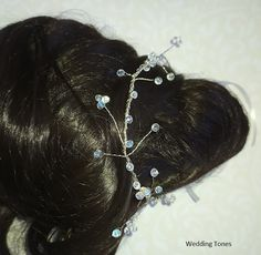 Wedding Tones: DIY: Handmade Bridal Hairpiece With Wire and Clear Crystals Bridal Hairpiece, Bridal Hair Vine, Clear Crystal, Crystal Beads, Crystals, Bride Look, Hair Pieces, Silver Color, Diy Jewelry