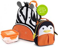 Get geared ready for the safari  Skip Hop Back to School Style Kit (Zoo Mania) - $42 @ Babybot