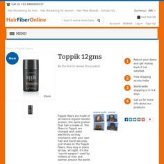 If you're a man or woman with thinning hair, Toppik will transform your appearance in 30 seconds, restore your confidence and help you look years younger.