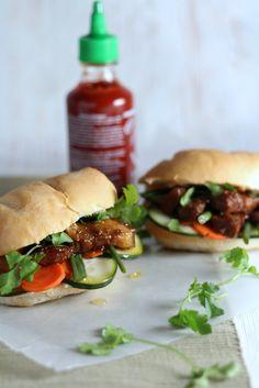 Pork Belly Bahn Mi Sandwiches