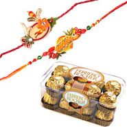 Rakhi with Ferrero Rocher with Same Day Rakhi Delivery