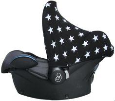 Zonnekap Ster Zwart is weer op voorraad! maxi cosi carseat car seat sonnenverdeck sun hood sunhood black star pimp pimpen