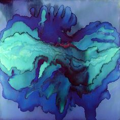 "Tobias Tovera - Links to his site Celestial Tide, Pigment on Panel, 48""x 48,"" 2010"