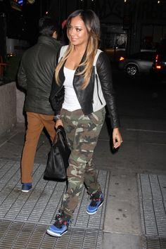 Lala-Anthony-Yigal-Azrouel-Leather-Sleeve-Jacket-Camouflage-Pants-Jordan-Sneakers
