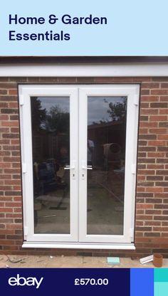 White uPVC French Doors Back Doors Patio Doors Made to Measure (#111) Doors, Aluminium Doors, Wood Doors, Upvc French Doors, French Doors, Back Doors, Sliding Glass Door, Upvc, Shaker Doors