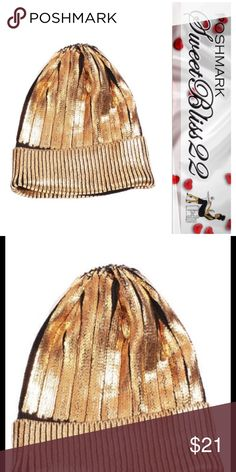 💄Metallic Gold Beanie💄 Who says you can't be stylish in the Winter?? Must have item! Don't miss out!! Comes in Silver. and Red also! Accessories Hats