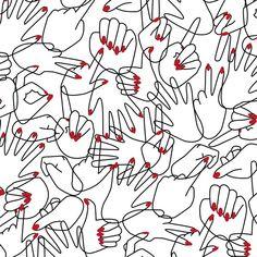 H.A.N.D.S. B.O.D.Y #Patternpattern #coeuràprendre #patternpatternillustration #blackandwhite #red #illustration #patternpassion #lovely #drawing #black #white #red #girlsjustwannahavefun #pattern #heart #body #women #girl #hands #handpattern #fashion #marineweil Pattern Illustration, Black White, Hands, Illustrations, Heart, Drawings, Red, Women, Fashion