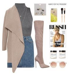 """She told me '' Don't worry about it ''"" by erika-cizmar ❤ liked on Polyvore featuring WearAll, A.P.C., Le Silla, ASOS, Harris Wharf London, Topshop, Casetify, Gorgeous Cosmetics, Fig+Yarrow and women's clothing"