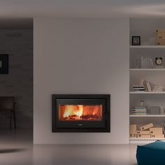 Image result for inset fireplace
