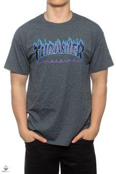 7b7009b660d42c Koszulka Thrasher Flame Logo Grey 311019
