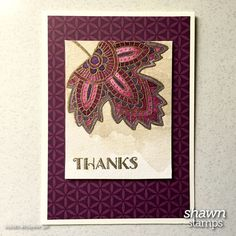 The Lighthearted Leaves stamp set from Stampin' Up! is so beautiful that it takes little effort to make a stand-out card. It's new in the Holiday Catalog.