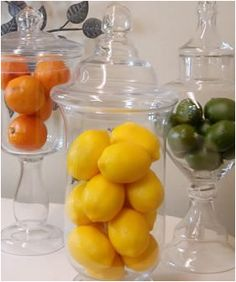 I wanna put an apothecary jar with lemons on my kitchen table