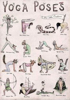 What's your favorite yoga pose in this adorable illustration? - What's your favorite yoga pose in this adorable illustration? What's your favorite yoga pose in this adorable illustration? Yoga Fitness, Health Fitness, Health Yoga, Fitness Men, Gut Health, Pilates Workout, Pilates Yoga, Kids Workout, Cardio