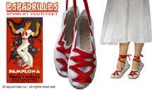Typical Catalan shoes - alpargatas http://www.alpargatas.ca/2009/10/famosos-en-alpargatas-salvador-dali.html