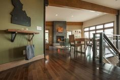 The foyer opens up to the great room and dining area. Take a peek inside Blog Cabin >> http://www.diynetwork.com/blog-cabin/2015/foyer-pictures-from-diy-network-blog-cabin-2015-pictures?soc=pinterestbc15