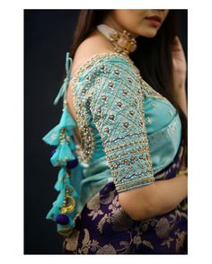 Wedding Saree Blouse Designs, Pattu Saree Blouse Designs, Fancy Blouse Designs, Latest Saree Blouse Designs, Blouse Back Neck Designs, Traditional Blouse Designs, Stylish Dress Designs, Latest Maggam Work Blouses, Bride Poses