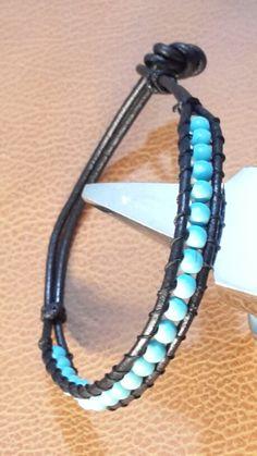 Leather bracelet design hand made