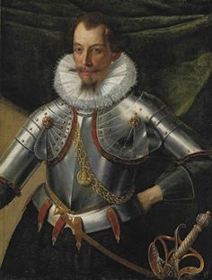 View Portrait of a gentleman Don Ambrogio Spinola, Marqués de los Balbases, in armor, with a medallion of Philip II of Spain by Italian School-Northern 1617 on artnet. Browse upcoming and past auction lots by Italian School-Northern Historical Art, Historical Costume, Historical Dress, Renaissance Men, Renaissance Clothing, Renaissance Portraits, Medieval Armor, Archetypes, 16th Century