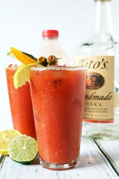 This is the Best Damn Bloody Mary recipe - the absolutely quintessential weekend cocktail, and totally customizable to boot!  www.daintyhooligan.com
