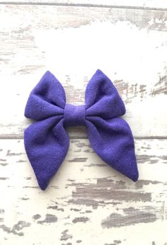 Eggplant purple Madeline Bow bow mini hair bow by LillyBelleMarket