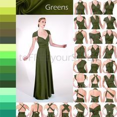 Long convertible dress in GREENS A-LINE by toFREEyourSTYLE on Etsy