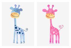 Margaret Berg Art: Baby Giraffes