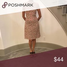 ABS sundress Vintage- Like new Cute sundress in off white/pink/tan. Very flattering! ABS Dresses