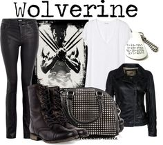"""Wolverine"" by niennamarie ❤ liked on Polyvore"