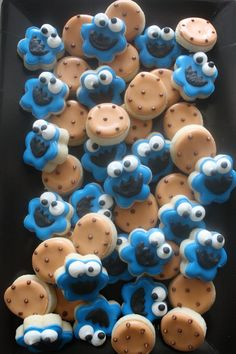 mini cookie monster cookies
