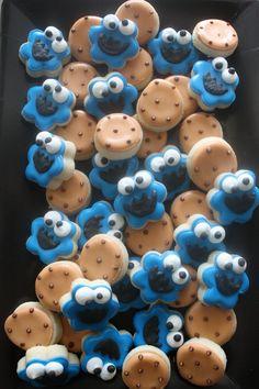 mini cookie monster cookies