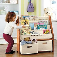 Book Storage In The Nursery Hellobee Sling Bookcase Coin Lecture