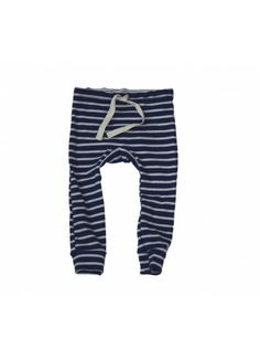 MABO // Organic Leggings / Blue with Natural