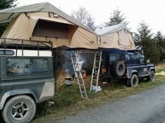 2 mates watching the World Rally Championships in Wales with matching roof tents. http://www.direct4x4.co.uk/roof-tents-accessories