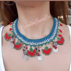 NSE 209 🥀💙🥀 … necklace # necklace # jewelry # handmade The Effective Pictures We Offer You About crochet accessories hair A quality. Crochet Hair Accessories, Handmade Accessories, Handmade Jewelry, African Beads Necklace, Crochet Necklace, Beaded Necklace, Piercings, Ethnic Jewelry, Crochet Patterns
